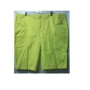 Caribbean Joe Women's Size 22W Neon Bermuda Shorts